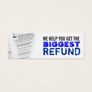 Cartões de visitas magros dos imposto sobre