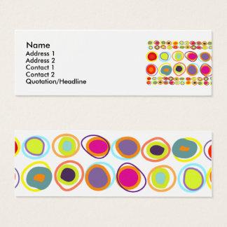 Cartões de visitas magros dos ovos coloridos