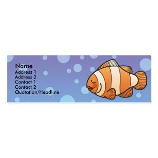 Cartões de visitas magros dos peixes do palhaço do