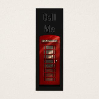 Cartões de visitas magros vermelhos britânicos da