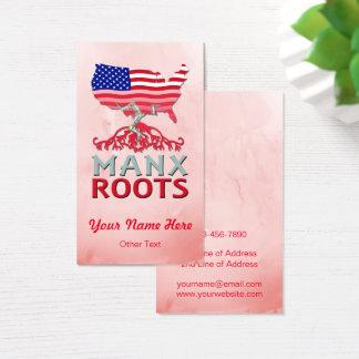 Cartões de visitas Manx americanos das raizes