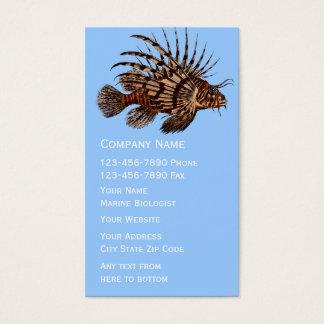 Cartões de visitas marinhos do biólogo