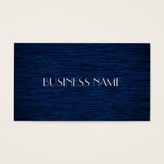 Cartões de visitas materiais de madeira azuis