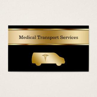 Cartões de visitas médicos do transporte