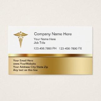 Cartões de visitas médicos elegantes