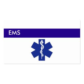 Cartões de visitas médicos EMS