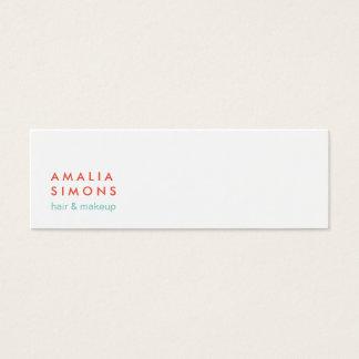 Cartões de visitas minimalistas brancos