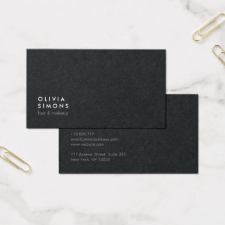 Cartões de visitas minimalistas pretos