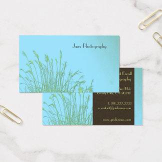 Cartões de visitas modelo, grama da erva daninha