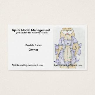 Cartões de visitas modelo novos da gestão de