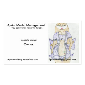 Cartões de visitas modelo novos da gestão de Ajain