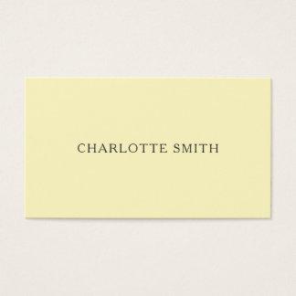 Cartões de visitas modernos amarelos pastel