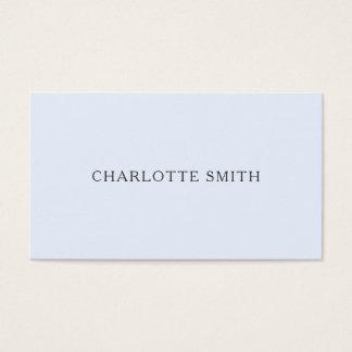 Cartões de visitas modernos azuis pastel