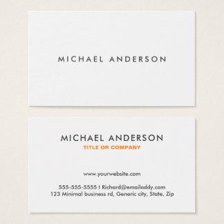 Cartões de visitas modernos - branco liso