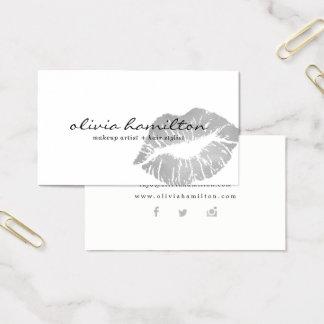 Cartões de visitas modernos de prata do
