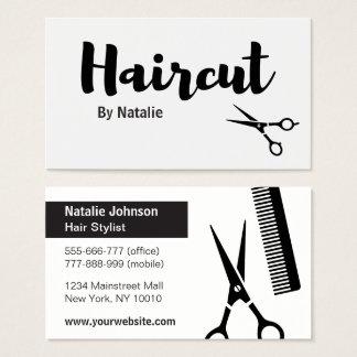 Cartões de visitas modernos do cabeleireiro do