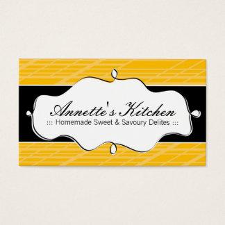 Cartões de visitas modernos do cozinheiro chefe