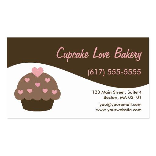 Cartões de visitas modernos do cupcake do redemoin