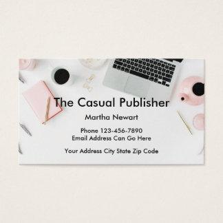 Cartões de visitas modernos do editor