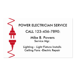 Cartões de visitas modernos do eletricista