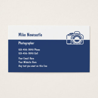 Cartões de visitas modernos do fotógrafo