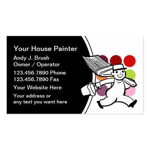 Cartões de visitas modernos do pintor