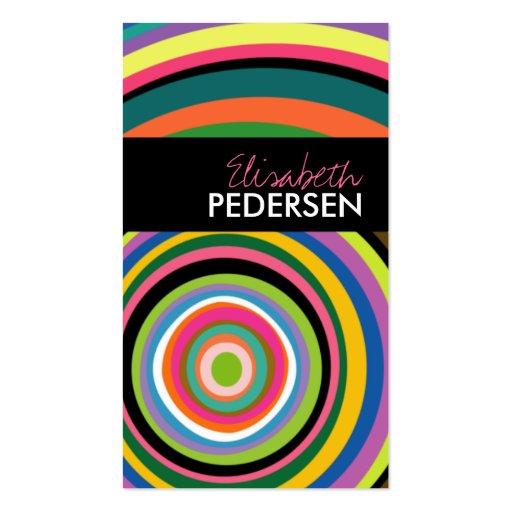 Cartões de visitas modernos dos anéis coloridos