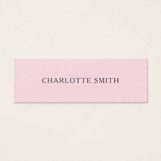 Cartões de visitas modernos minimalistas do rosa