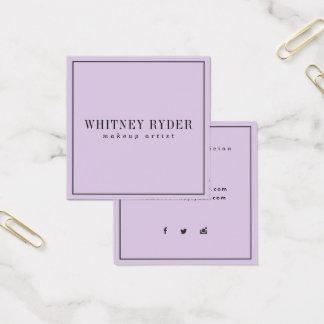 Cartões de visitas modernos roxos