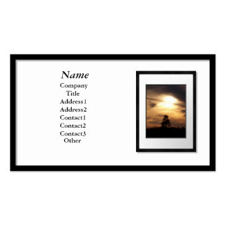 Cartões de visitas - moldura para retrato preta (e