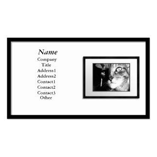 Cartões de visitas - moldura para retrato preta e