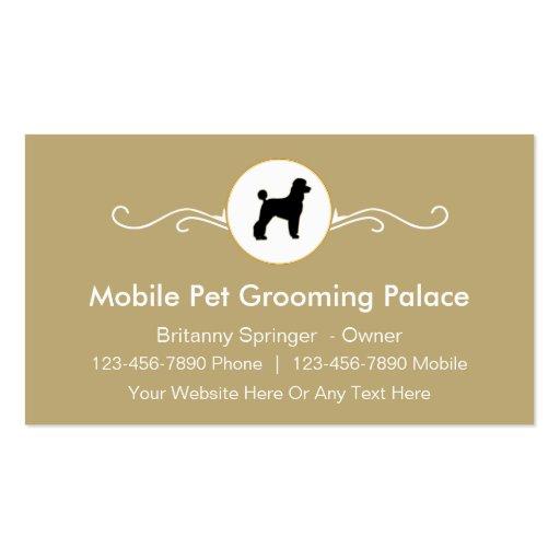 Cartões de visitas móveis da preparação do animal