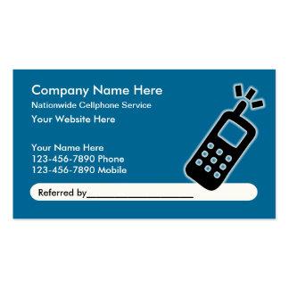 Cartões de visitas móveis da referência do serviço
