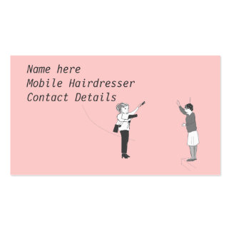 Cartões de visitas móveis do cabeleireiro