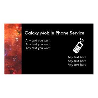 Cartões de visitas móveis do serviço telefónico