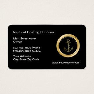 Cartões de visitas náuticos