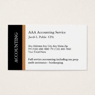 Cartões de visitas novos do contador