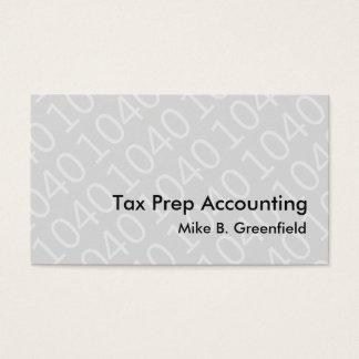 Cartões de visitas novos do contador do imposto