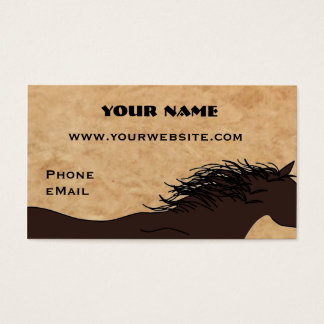Cartões de visitas ocidentais da silhueta do