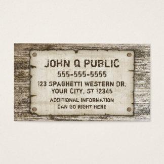 Cartões de visitas ocidentais do vintage