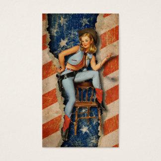 Cartões de visitas ocidentais patrióticos da