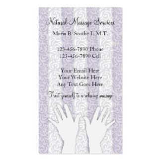 Cartões de visitas originais da massagem