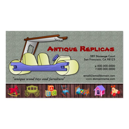Cartões de visitas originais das réplicas antigas