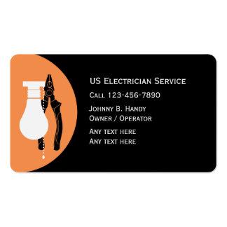 Cartões de visitas originais do eletricista