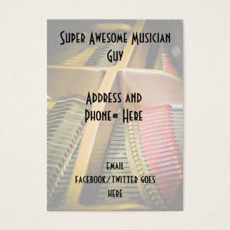 Cartões de visitas para o músico