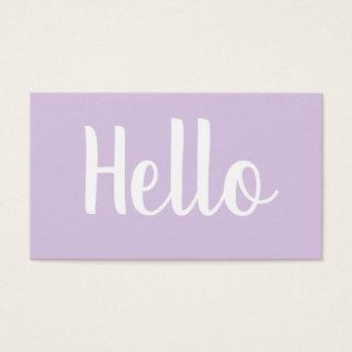 Cartões de visitas pastel corajosos minimalistas