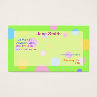 Cartões de visitas Pastel da polca