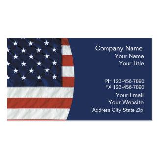 Cartões de visitas patrióticos