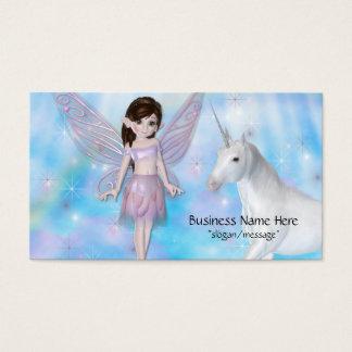 Cartões de visitas pequenos da fantasia da fada