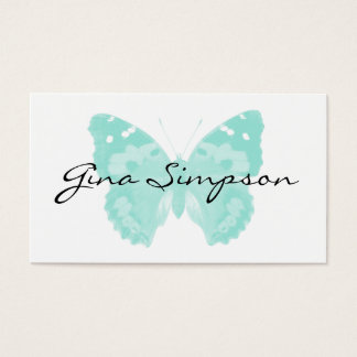 Cartões de visitas personalizados borboleta do